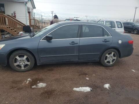 2005 Honda Accord for sale at PYRAMID MOTORS - Fountain Lot in Fountain CO