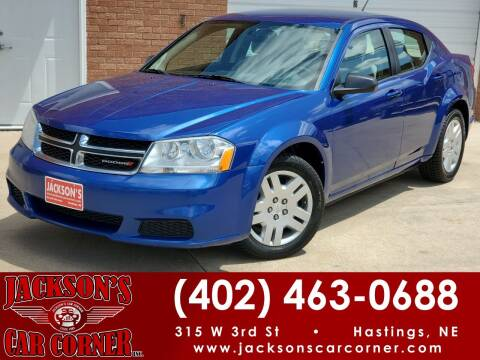 2013 Dodge Avenger for sale at Jacksons Car Corner Inc in Hastings NE