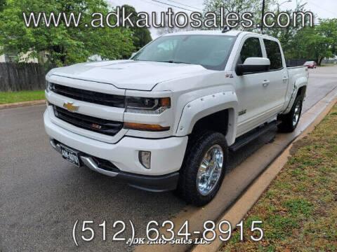 2016 Chevrolet Silverado 1500 for sale at ADK AUTO SALES LLC in Austin TX