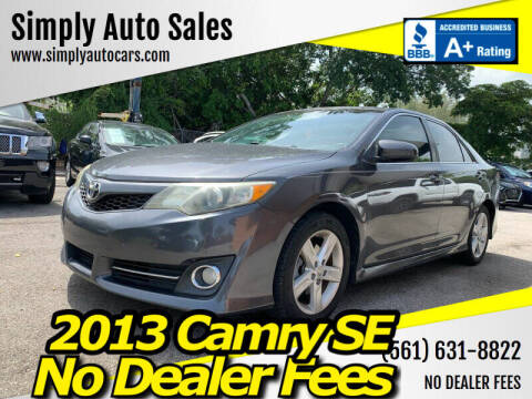 2013 Toyota Camry for sale at Simply Auto Sales in Palm Beach Gardens FL
