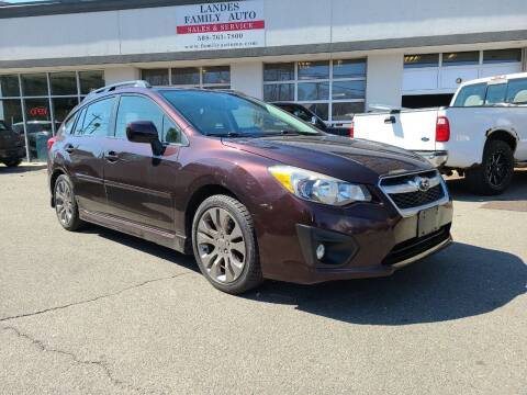 2013 Subaru Impreza for sale at Landes Family Auto Sales in Attleboro MA