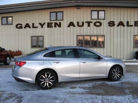 2018 Chevrolet Malibu for sale at Galyen Auto Sales Inc. in Atkinson NE