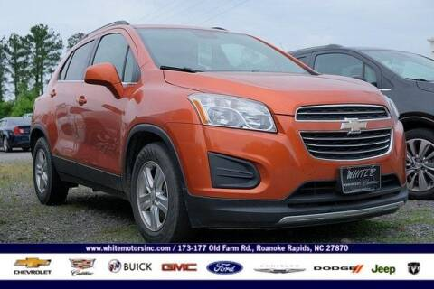 2016 Chevrolet Trax for sale at WHITE MOTORS INC in Roanoke Rapids NC