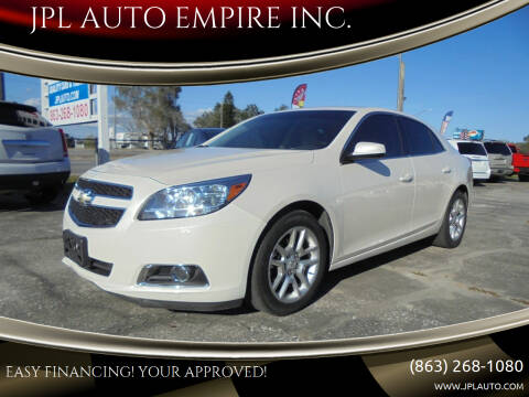 2013 Chevrolet Malibu for sale at JPL AUTO EMPIRE INC. in Auburndale FL