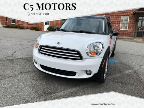 2013 MINI Countryman for sale at C5 Motors in Marietta GA