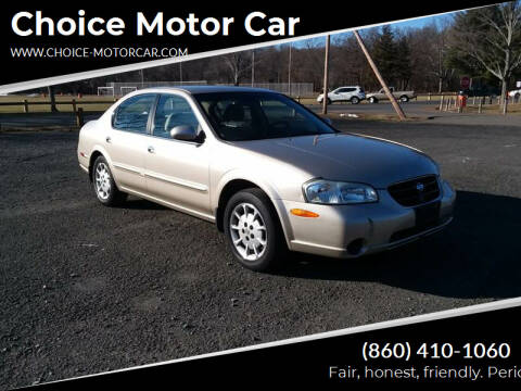 2000 Nissan Maxima for sale at Choice Motor Car in Plainville CT