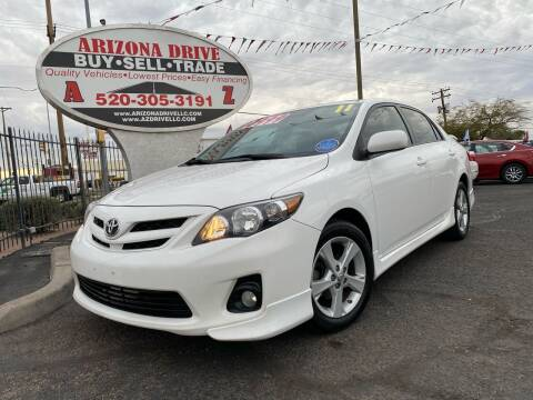 2011 Toyota Corolla for sale at Arizona Drive LLC in Tucson AZ