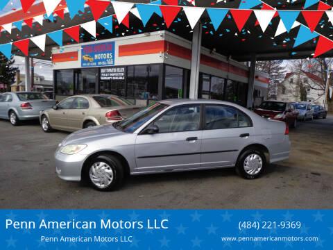 2004 Honda Civic for sale at Penn American Motors LLC in Allentown PA