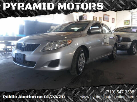 2009 Toyota Corolla for sale at PYRAMID MOTORS - Pueblo Lot in Pueblo CO