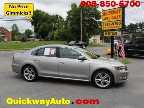 2014 Volkswagen Passat for sale at Quickway Auto Sales in Hackettstown NJ