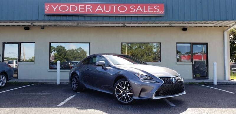 2016 Lexus RC 300 for sale at PAUL YODER AUTO SALES INC in Sarasota FL
