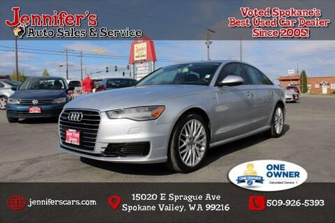 2016 Audi A6 for sale at Jennifer's Auto Sales in Spokane Valley WA