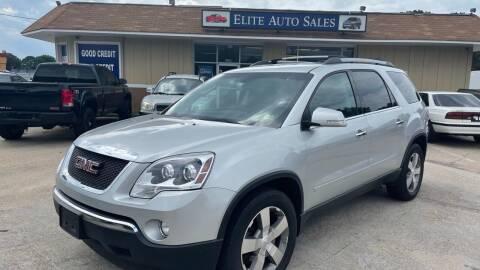 2012 GMC Acadia for sale at Elite Auto Sales in Portsmouth VA