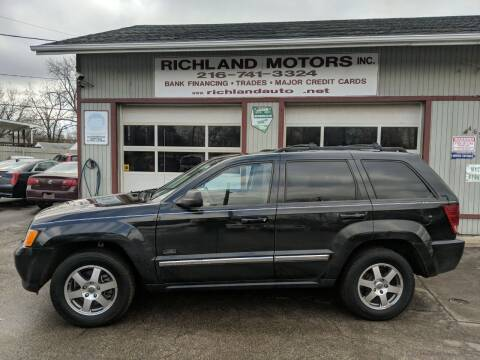 2009 Jeep Grand Cherokee for sale at Richland Motors in Cleveland OH