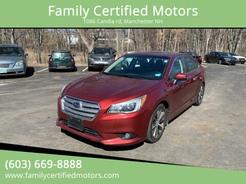 2015 Subaru Legacy for sale at Family Certified Motors in Manchester NH