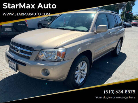 2006 Toyota Highlander Hybrid for sale at StarMax Auto in Fremont CA
