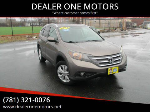 2014 Honda CR-V for sale at DEALER ONE MOTORS in Malden MA