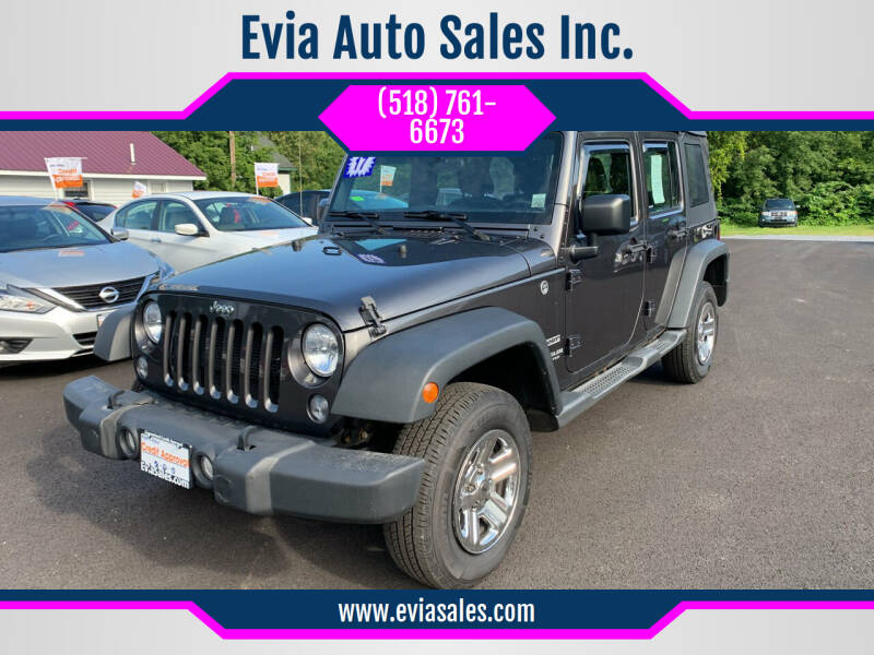 2017 Jeep Wrangler Unlimited for sale at Evia Auto Sales Inc. in Glens Falls NY