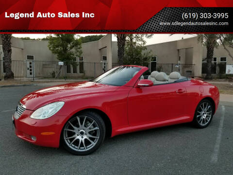 2002 Lexus SC 430 for sale at Legend Auto Sales Inc in Lemon Grove CA