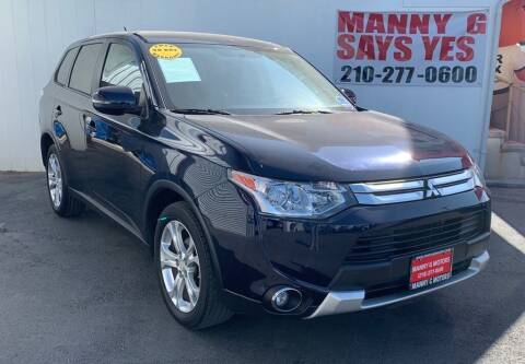 2015 Mitsubishi Outlander for sale at Manny G Motors in San Antonio TX