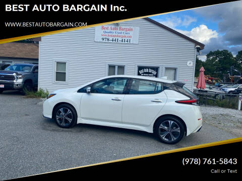 2020 Nissan LEAF for sale at BEST AUTO BARGAIN inc. in Lowell MA