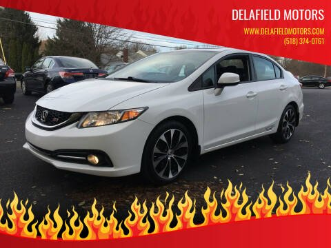 2013 Honda Civic for sale at Delafield Motors in Glenville NY