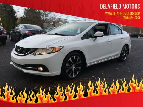2013 Honda Civic for sale at Delafield Motors in Glenville NY