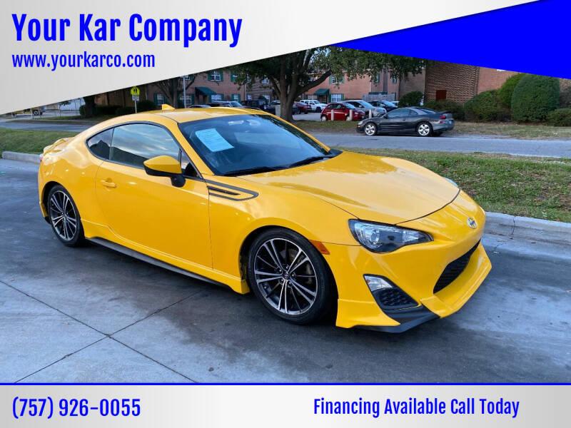 2015 Scion FR-S for sale at Your Kar Company in Norfolk VA