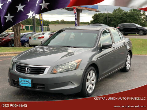 2009 Honda Accord for sale at Central Union Auto Finance LLC in Austin TX