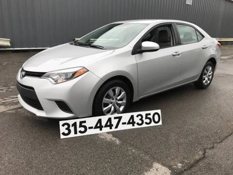 2014 Toyota Corolla for sale at Dominic Sales LTD in Syracuse NY