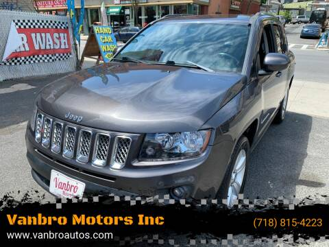 2014 Jeep Compass for sale at Vanbro Motors Inc in Staten Island NY