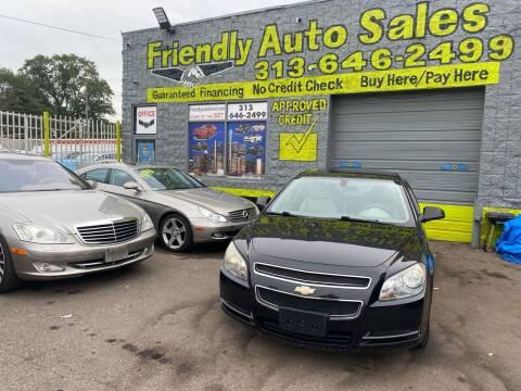 2009 Chevrolet Malibu for sale at Friendly Auto Sales in Detroit MI