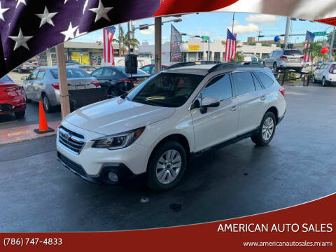 2018 Subaru Outback for sale at American Auto Sales in Hialeah FL