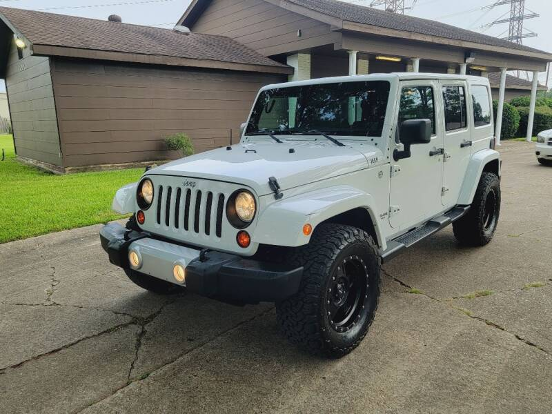 2013 Jeep Wrangler Unlimited for sale at MOTORSPORTS IMPORTS in Houston TX