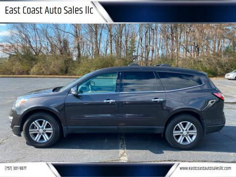 2015 Chevrolet Traverse for sale at East Coast Auto Sales llc in Virginia Beach VA