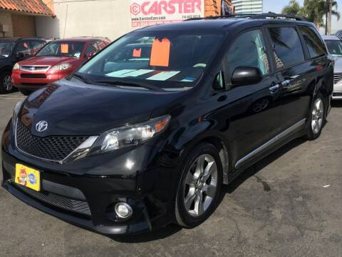 2013 Toyota Sienna for sale at CARSTER in Huntington Beach CA