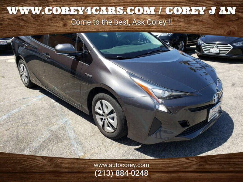 2016 Toyota Prius for sale at WWW.COREY4CARS.COM / COREY J AN in Los Angeles CA