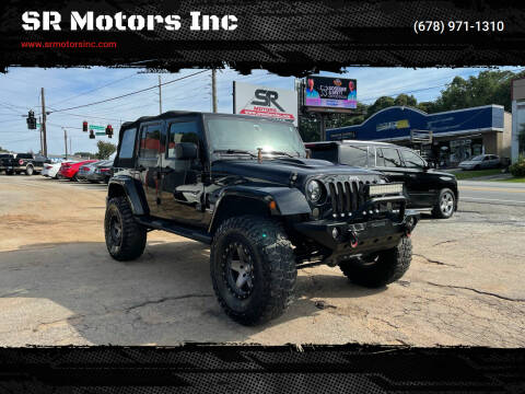 2013 Jeep Wrangler Unlimited for sale at SR Motors Inc in Gainesville GA