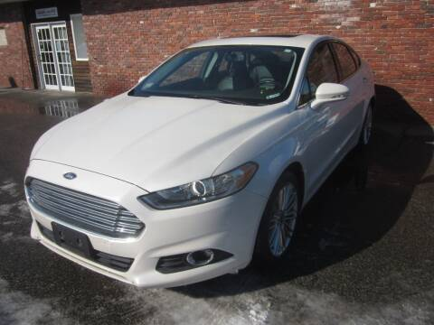 2015 Ford Fusion for sale at Tewksbury Used Cars in Tewksbury MA