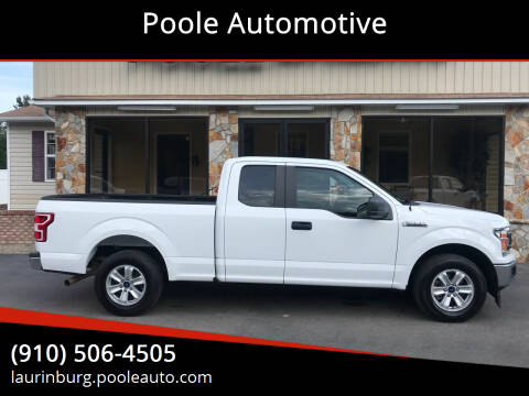 2018 Ford F-150 for sale at Poole Automotive in Laurinburg NC