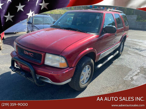 2001 GMC Jimmy for sale at AA Auto Sales Inc. in Gary IN