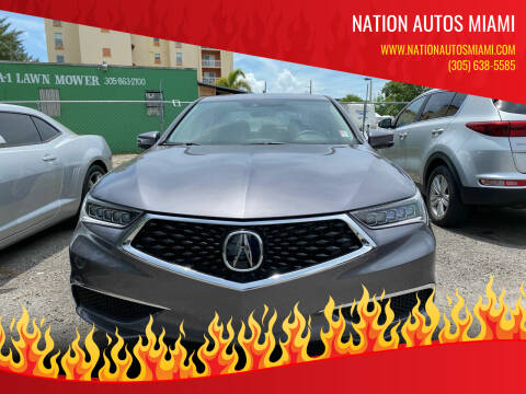 2019 Acura TLX for sale at Nation Autos Miami in Hialeah FL