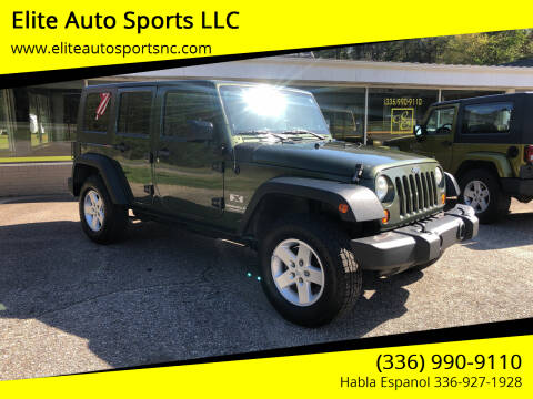 2007 Jeep Wrangler Unlimited for sale at Elite Auto Sports LLC in Wilkesboro NC