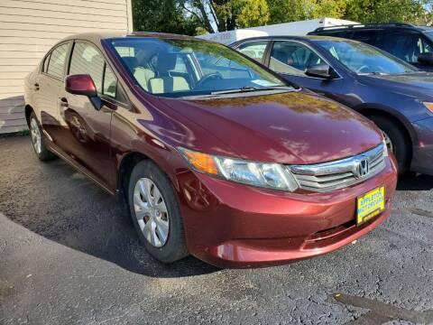 2012 Honda Civic for sale at Appleton Motorcars Sales & Service in Appleton WI