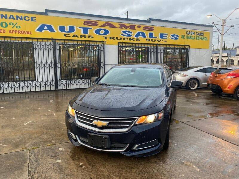 2016 Chevrolet Impala for sale at Sam's Auto Sales in Houston TX