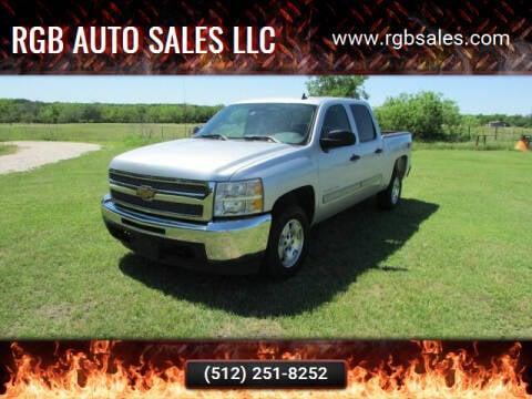 2013 Chevrolet Silverado 1500 for sale at RGB AUTO SALES LLC in Manor TX