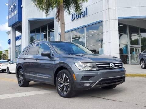 2018 Volkswagen Tiguan for sale at DORAL HYUNDAI in Doral FL