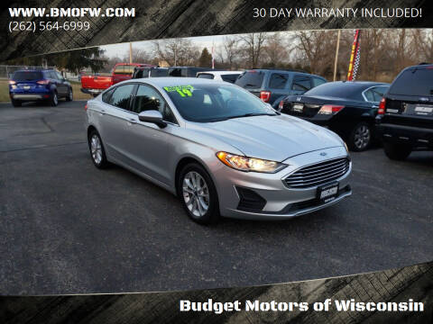 2019 Ford Fusion for sale at Budget Motors of Wisconsin in Racine WI