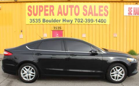 2013 Ford Fusion for sale at Super Auto Sales in Las Vegas NV