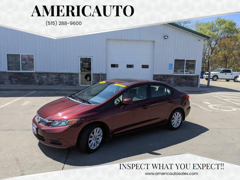 2012 Honda Civic for sale at AmericAuto in Des Moines IA